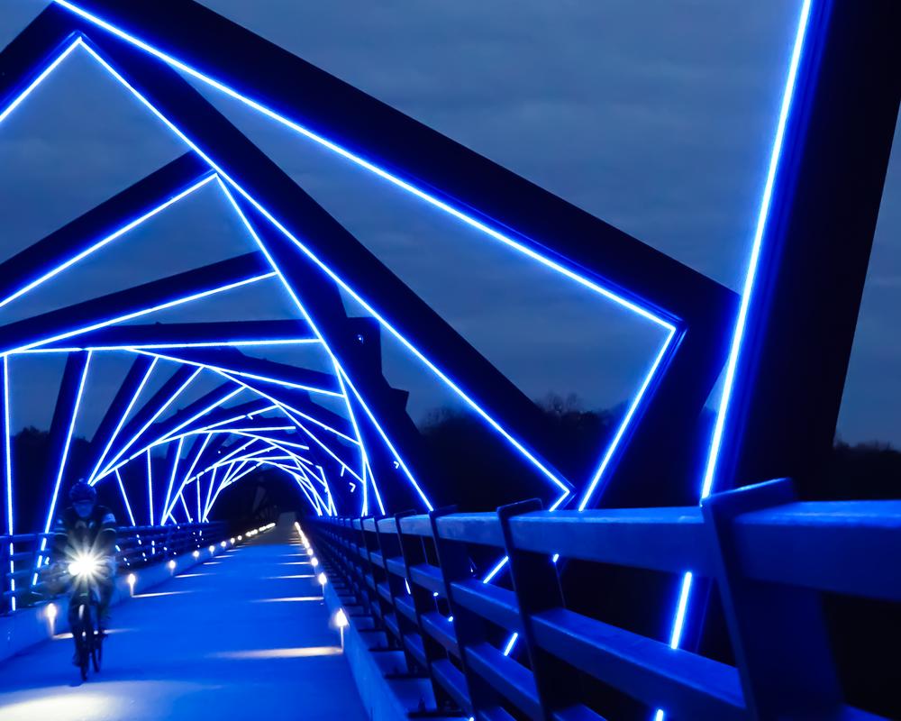 Biking The Bridge Photography Art | Happy Hogtor Photography