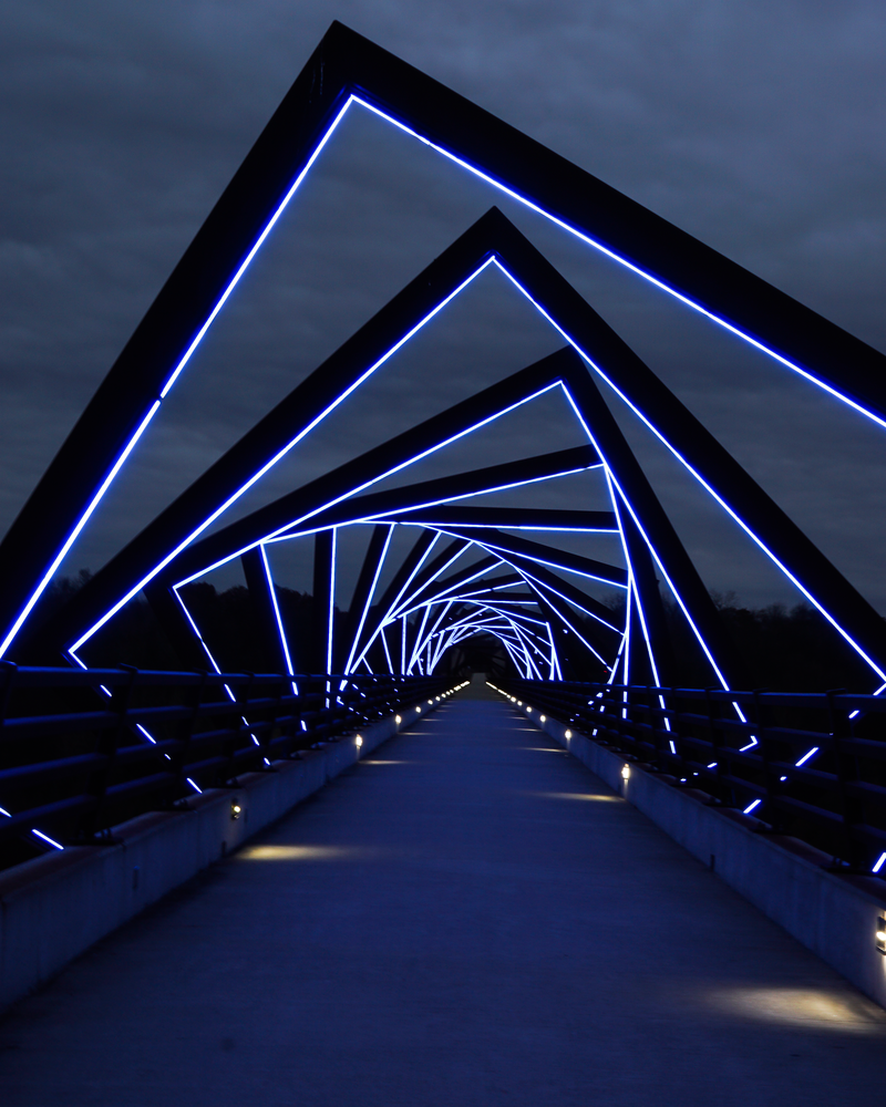High Trestle Bridge Winter Sky V Photography Art | Happy Hogtor Photography