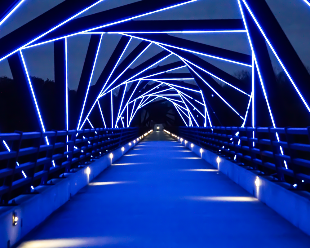 High Trestle Bridge In Blue Photography Art | Happy Hogtor Photography
