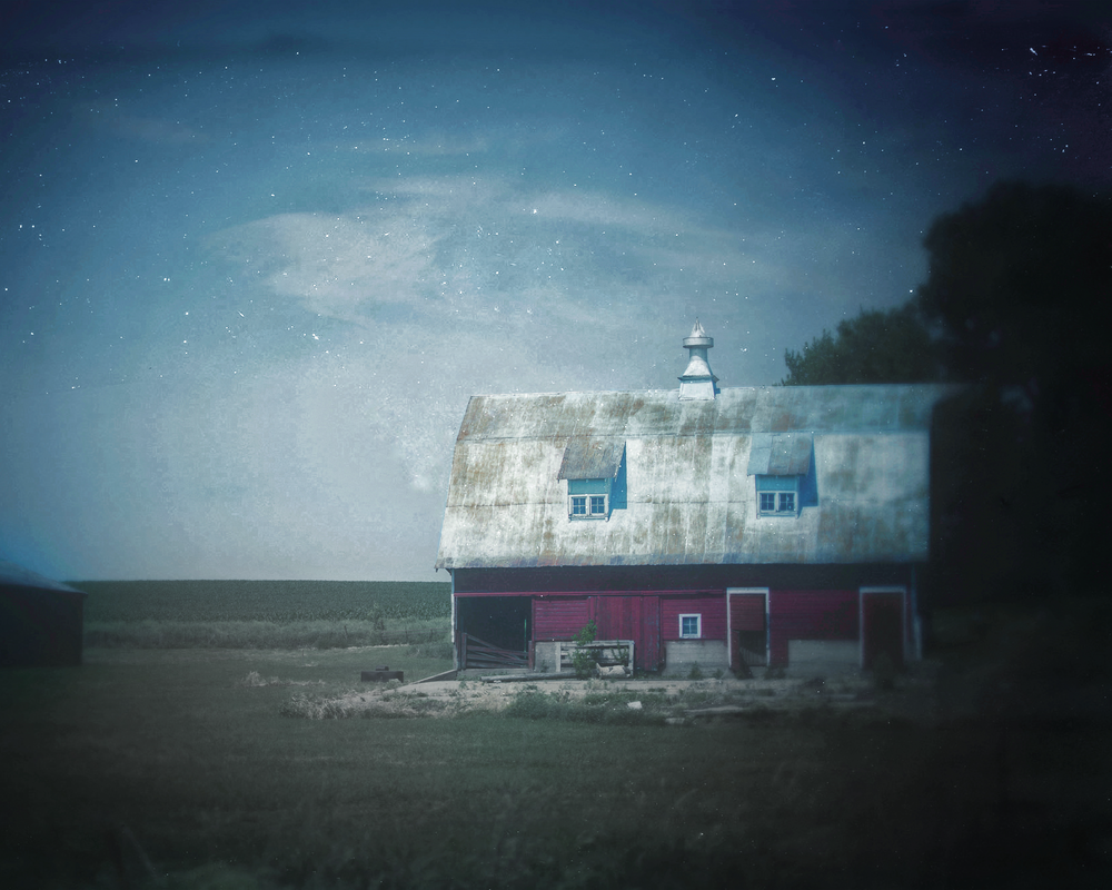 Starry Red Barn Photography Art | Happy Hogtor Photography