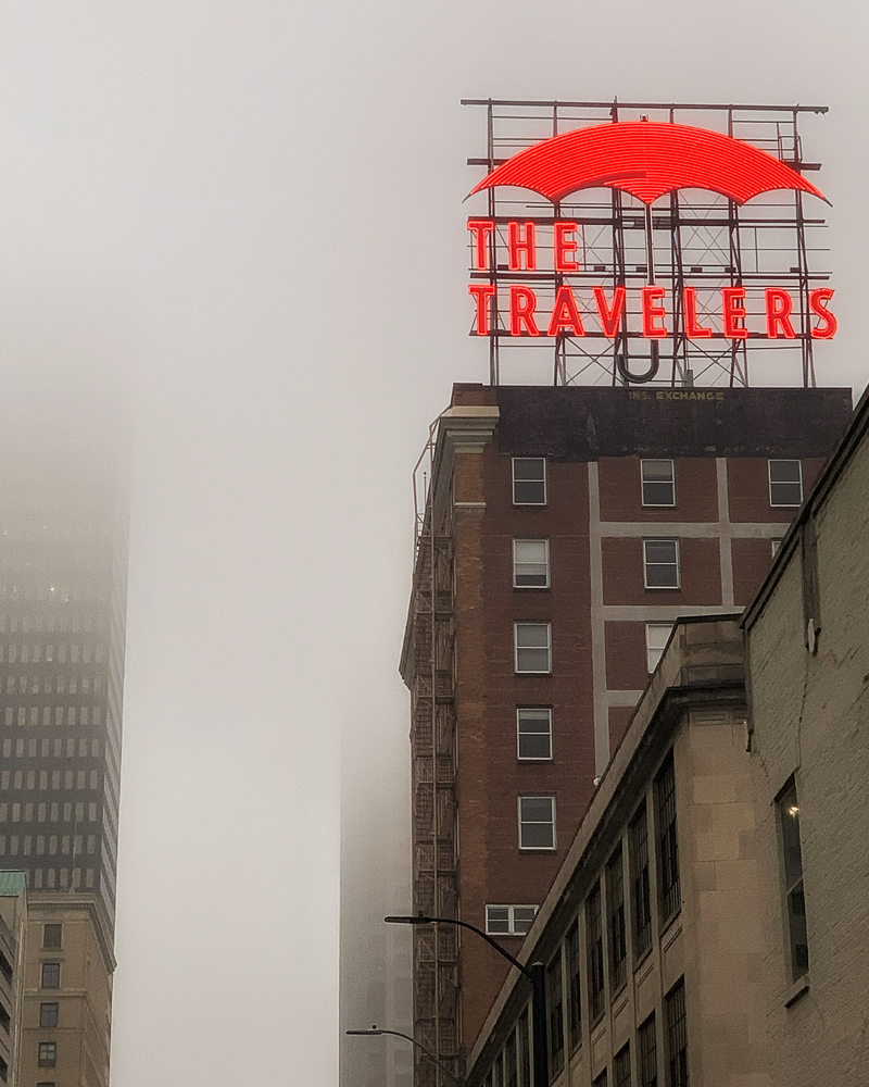 The Travelers In The Fog Photography Art | Happy Hogtor Photography