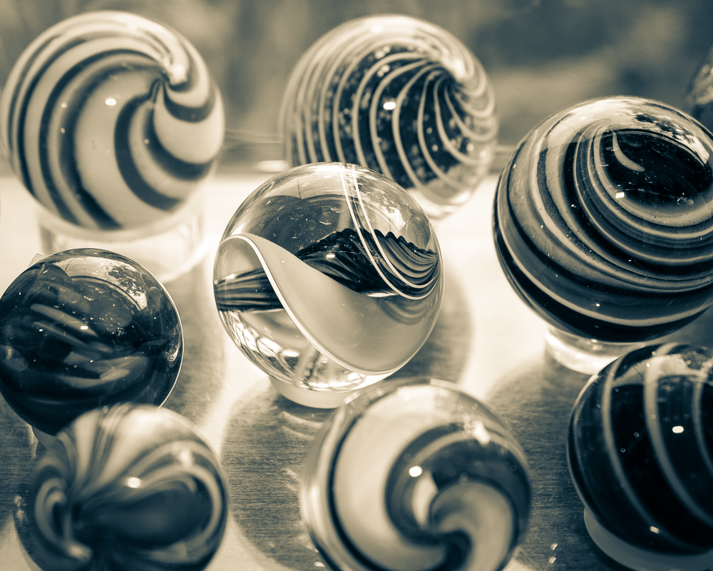 Marbles In Bw Photography Art | Happy Hogtor Photography
