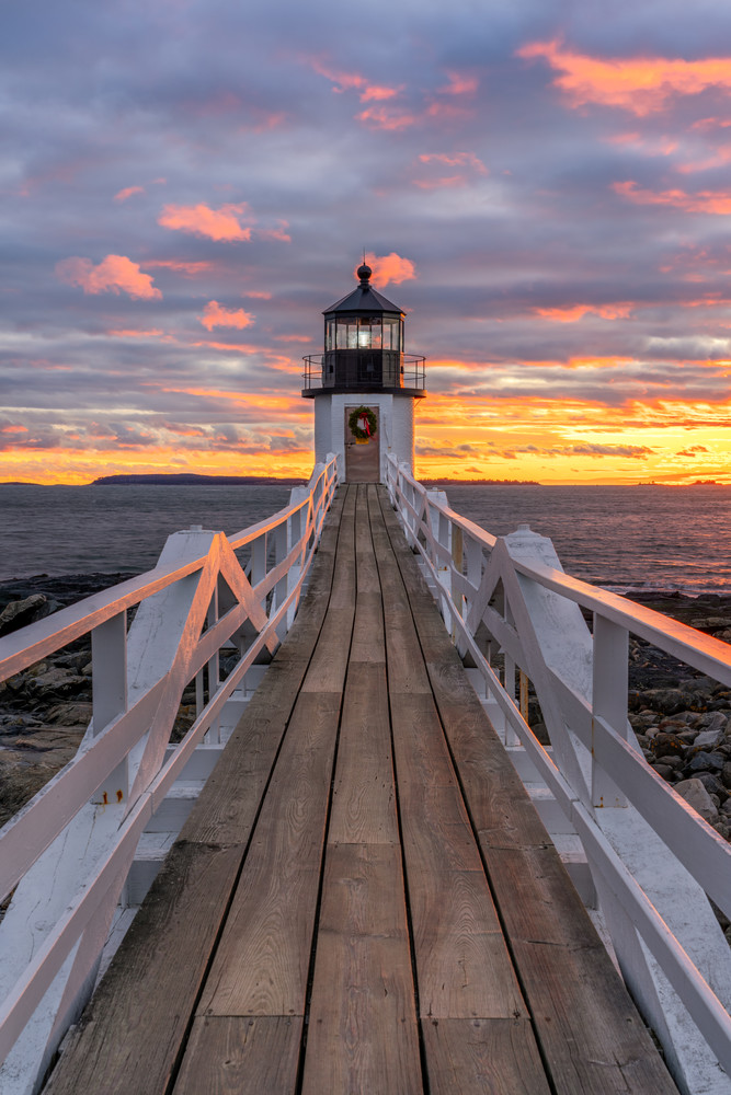 Winter Sunset at Marshall Point