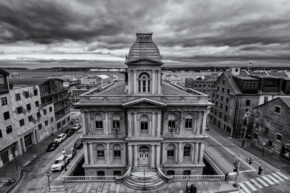 Portland Custom House in Black & White