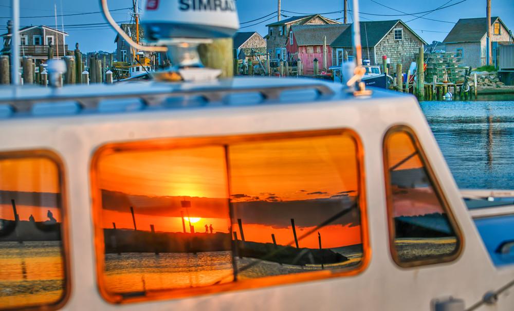 Menemsha Boat Reflection Art | Michael Blanchard Inspirational Photography - Crossroads Gallery