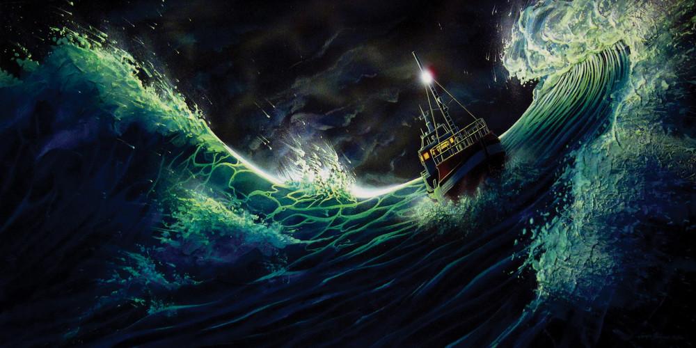 Power Forward, a watercolor ocean painting by Montana artist Joe Ziolkowski.