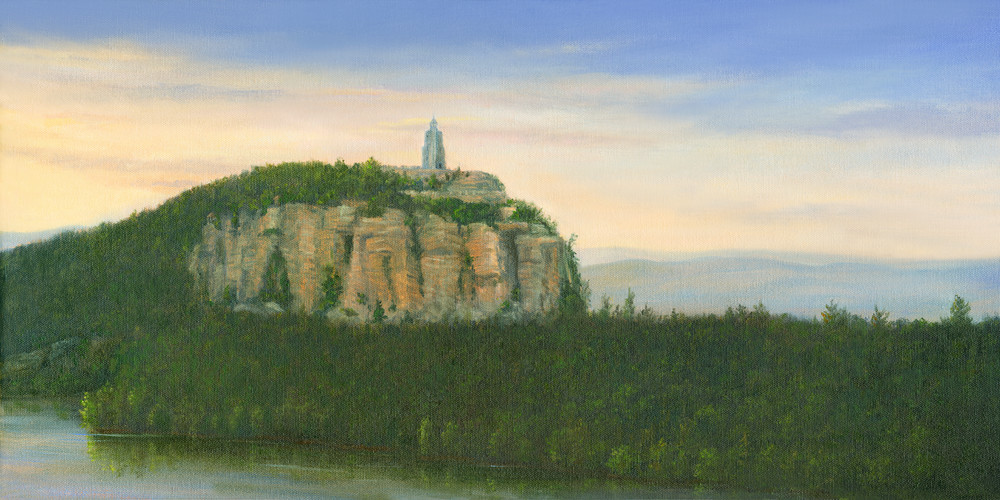 *Sunrise From Eagles Cliff Overlooking Smiley Tower Mohonk Art   Tarryl Fine Art