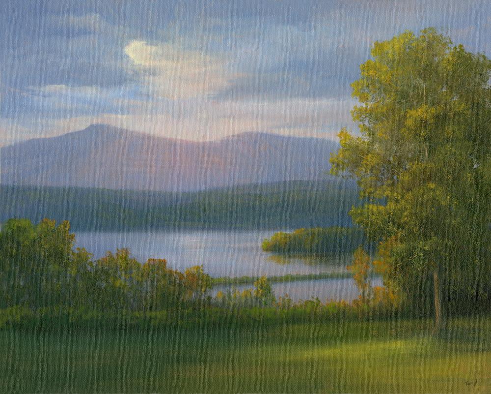 *Sun Breaking Over The Hudson From Bard Art | Tarryl Fine Art