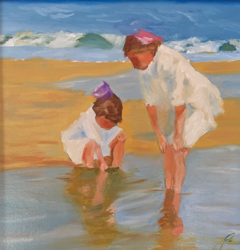 Girls Playing In The Surf Art | Scott Dyer Fine Art