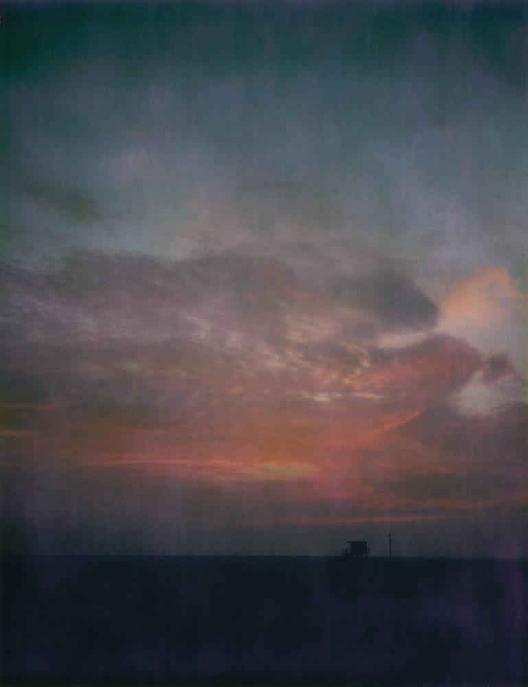 Red Sky   Santa Monica Beach Photography Art | Julian Whatley Photography
