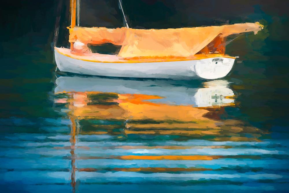 Overture. A small sailboat at anchor. Deer Harbor, Washington.