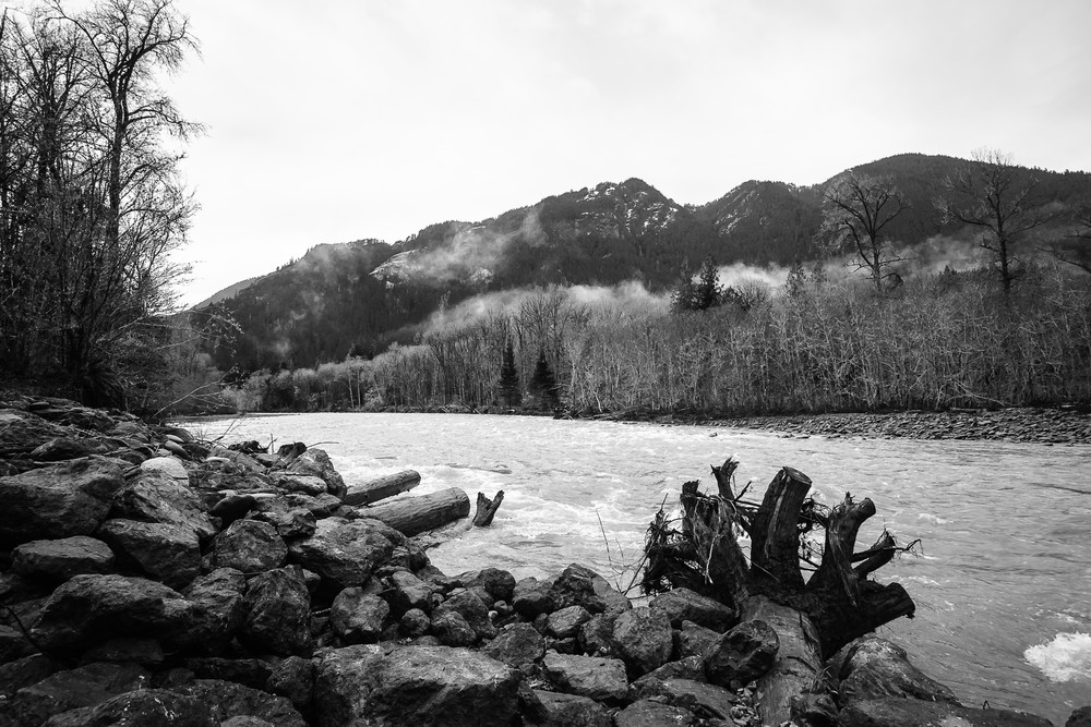 Winter on the Elwha River, Olympic National Park, Washington, 2016