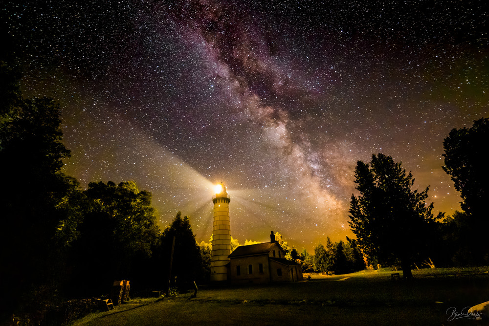 The Cana Island lighthouse and The MIlky Way No. 2