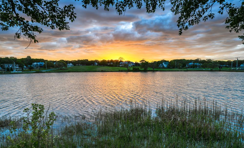 Sunset Lake Spring Art | Michael Blanchard Inspirational Photography - Crossroads Gallery
