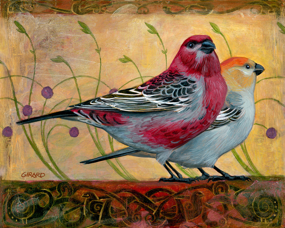Golden Grosbeaks Art | Studio Girard