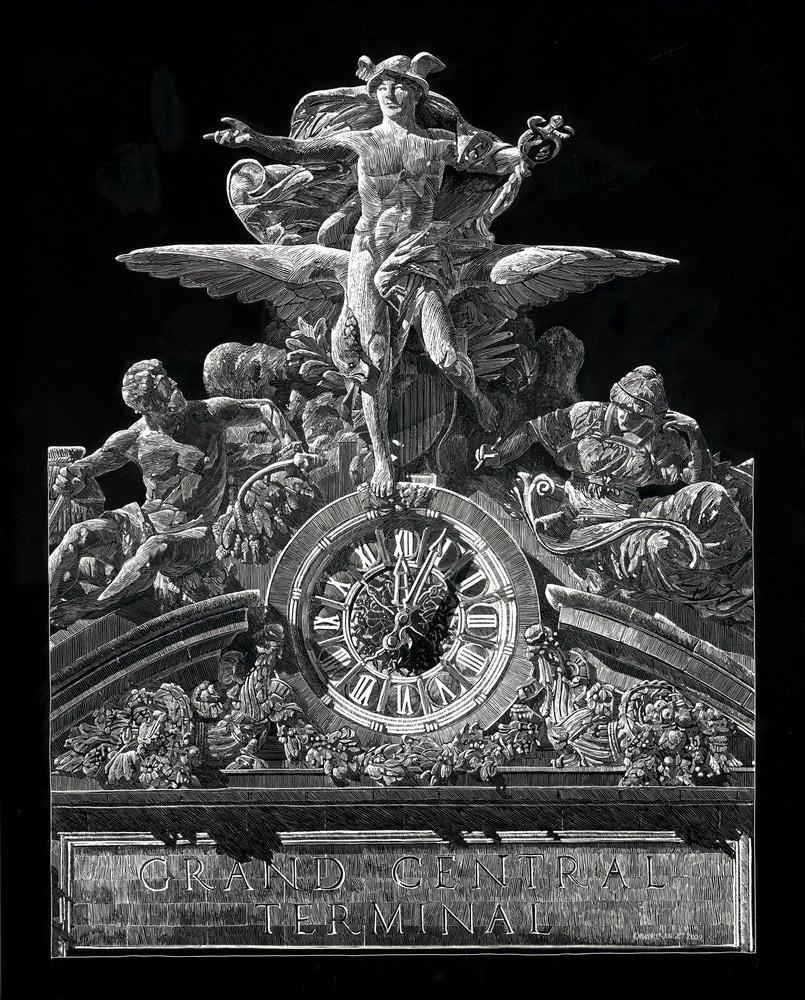 Grand Central Terminal Mercury Art | Andre Junget Illustration LLC