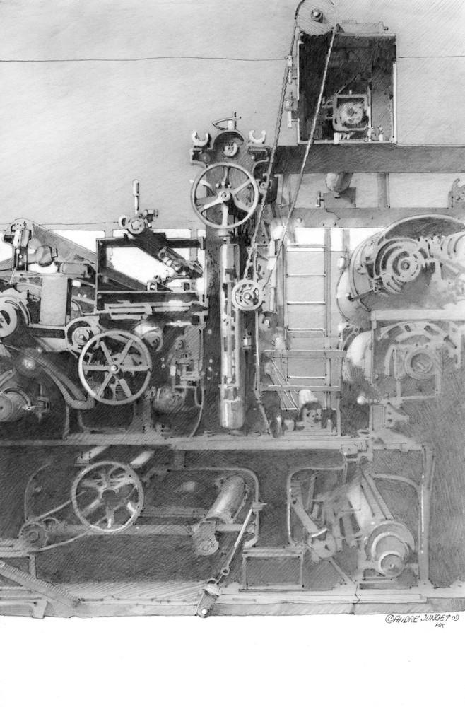 Textile Machine Art   Andre Junget Illustration LLC