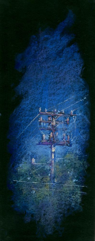 Utility Pole 1 Art | Andre Junget Illustration LLC