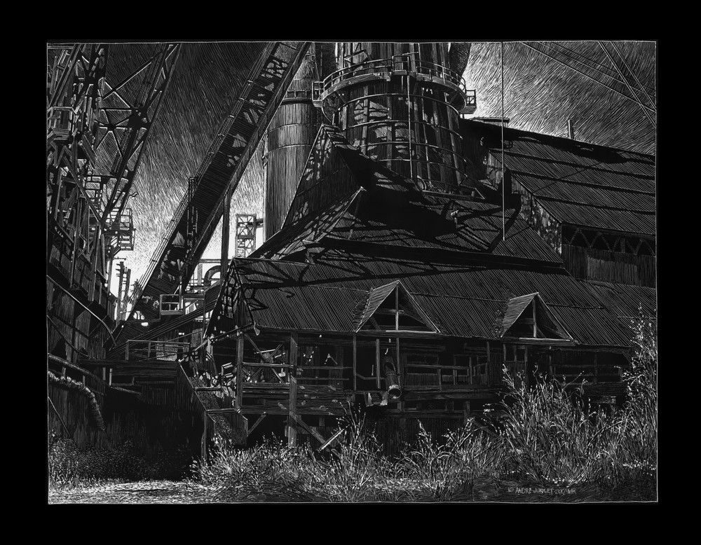 Carrie Furnace 2 Art | Andre Junget Illustration LLC