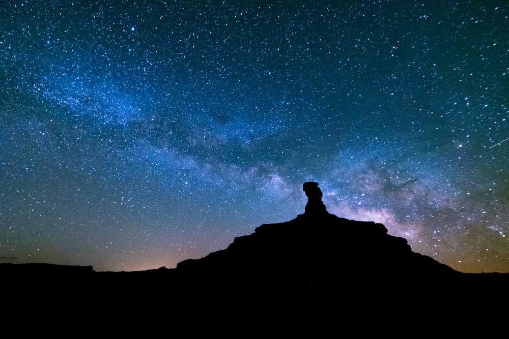 Milky Way Over Rooster Butte, Valley Of Gods Photography Art | John Gregor Photography