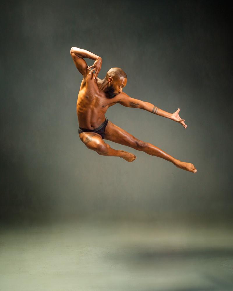 "Quinton Weathers (""Q"") in Dance Mid-Leap"