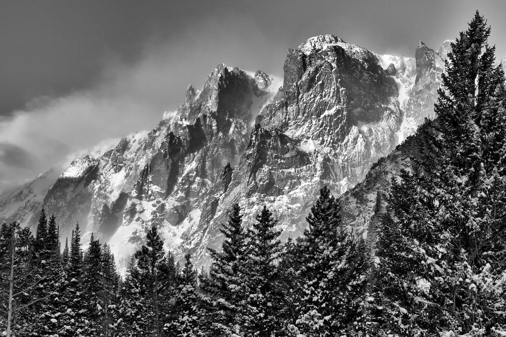 Flattop Mountain In Black & White Photography Art   Nicholas Jensen Photography
