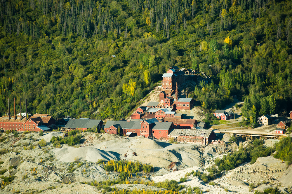 Alaska Aerial Kennicott Mine Mc Carthy Ak Photography Art | Hatch Photo Artistry LLC