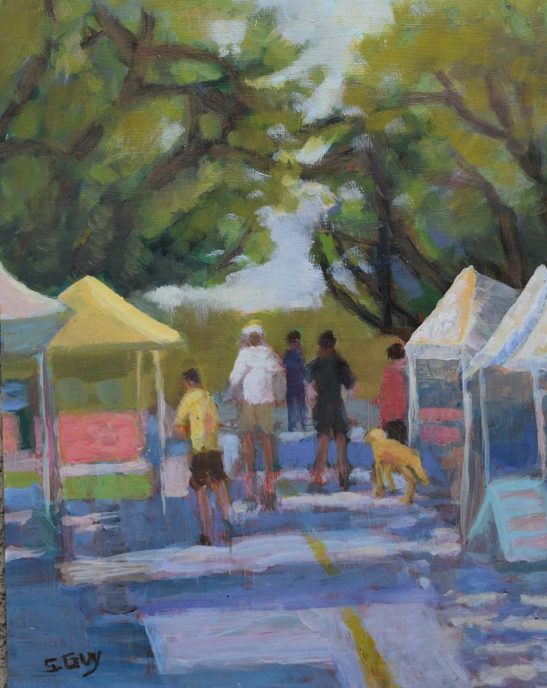 Morning At The Market Art | Sharon Guy