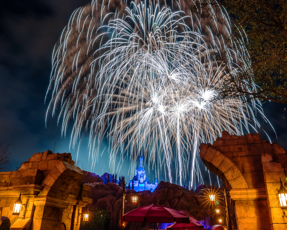 Beast's Castle Fireworks 3 Photography Art | William Drew Photography