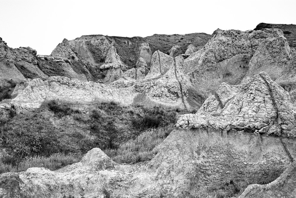 Dscf4555 Edit Edit Badlands Erosion Cones Bw Photography Art   Hatch Photo Artistry LLC