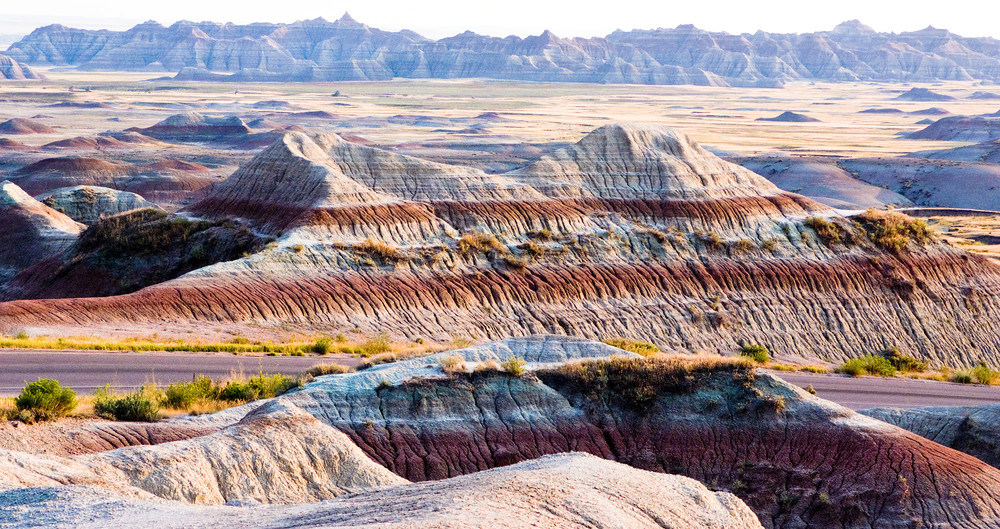 Badlands Strata Panorama Photography Art | Eric Hatch