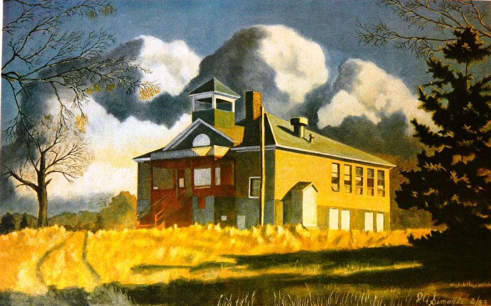 Old School House At Trail Mn. Art   John Simonis Art Gallery