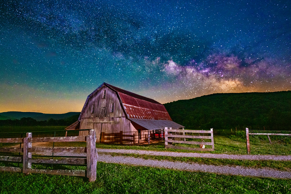 Milky Way Over Boxley Valley fine-art photography prints