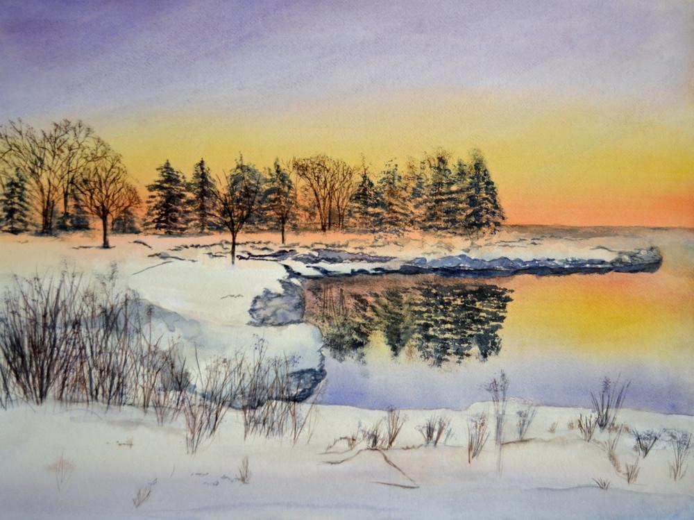 Winter Sunrise Art   Sharon Bacal - Fine Art