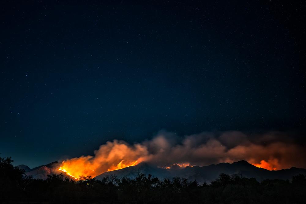 Ventana Canyon Burning Photography Art   Carol Brooks Parker Fine Art Photography