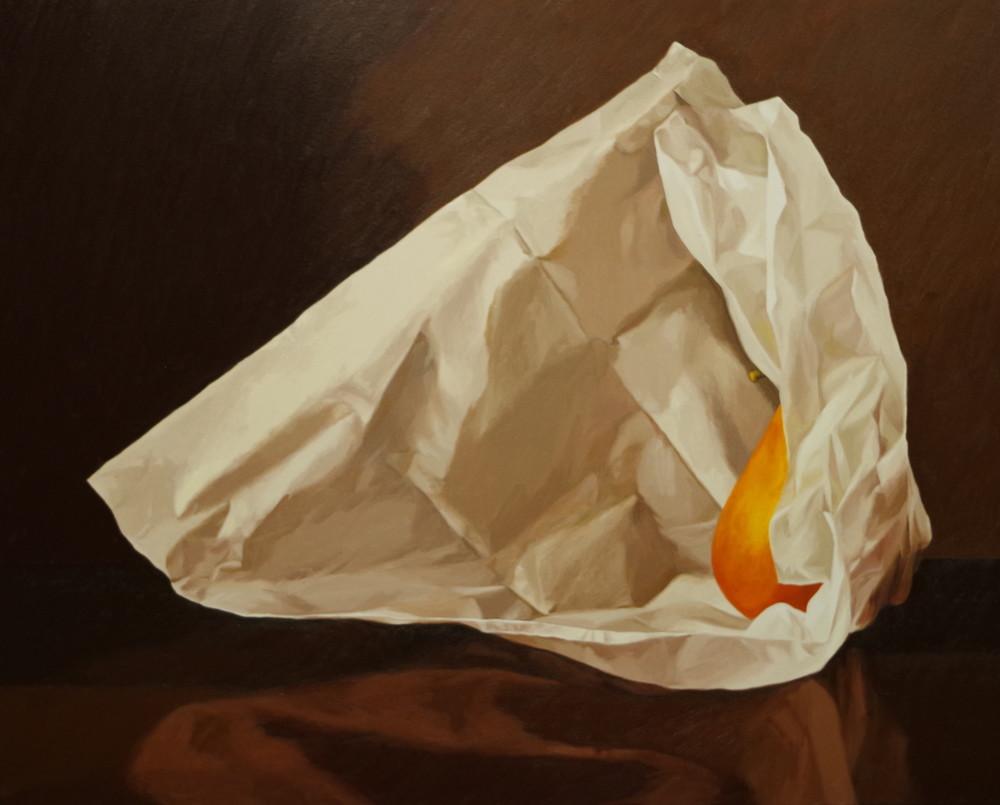 Pear Wrapped In Tissue Paper 3 Art   Helen Vaughn Fine Art