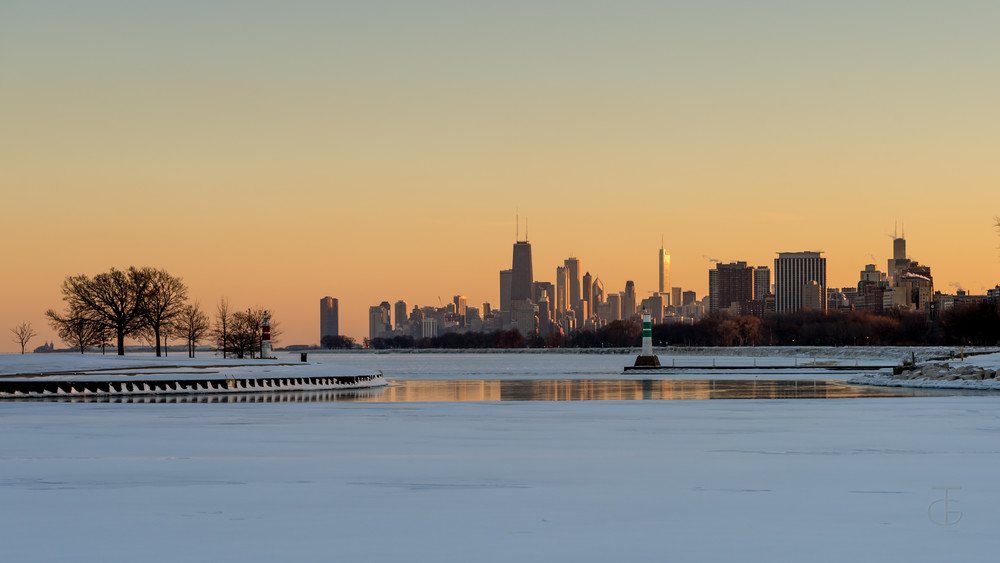 Montrose Harbor At Dusk Photography Art | Ted Glasoe, Artist