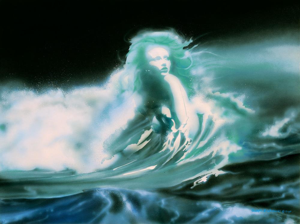 """Sedna"" is an Inuit sea goddess belief. An ocean protector. This fine art print is by Montana artist, Joe Ziolkowski."