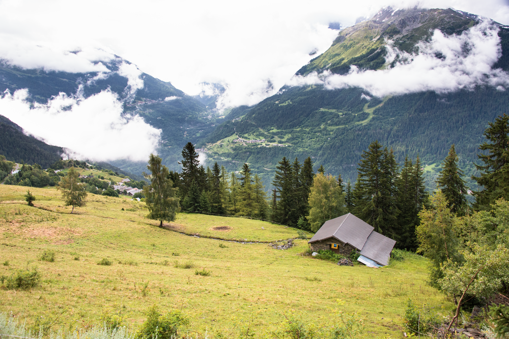 Chalet Italian Alps Photography Art   Eric Hatch