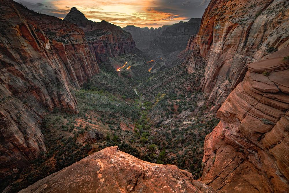 Zionvalley Sunset Jmohar Art | JMohar.com
