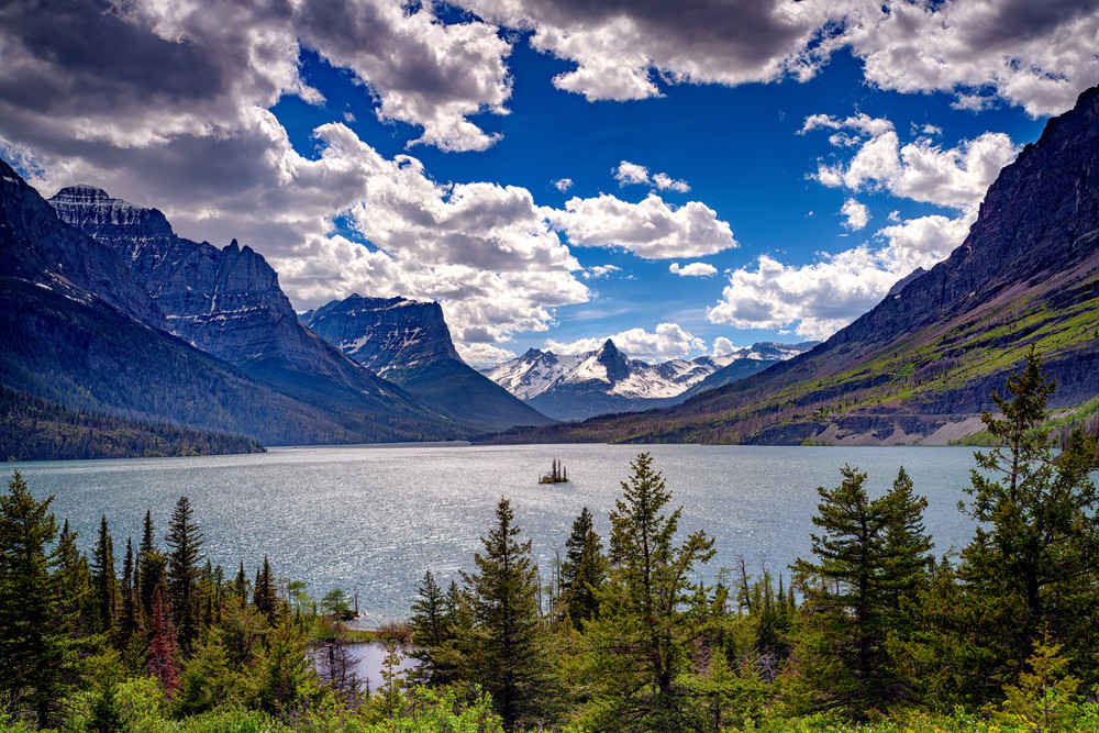 Saint Mary Lake by Rick Berk