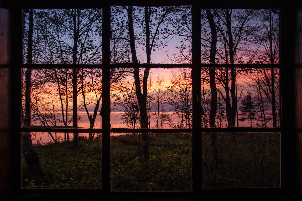 Sunset from my cabin window