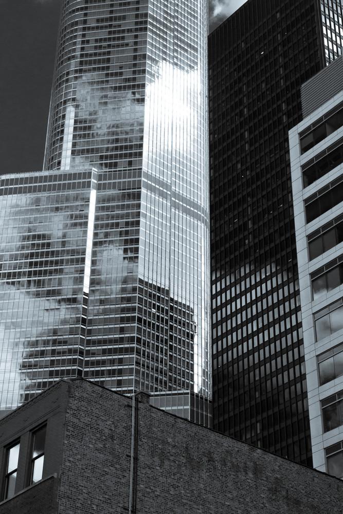 Chicago Towers Selenium Photography Art | Hatch Photo Artistry LLC