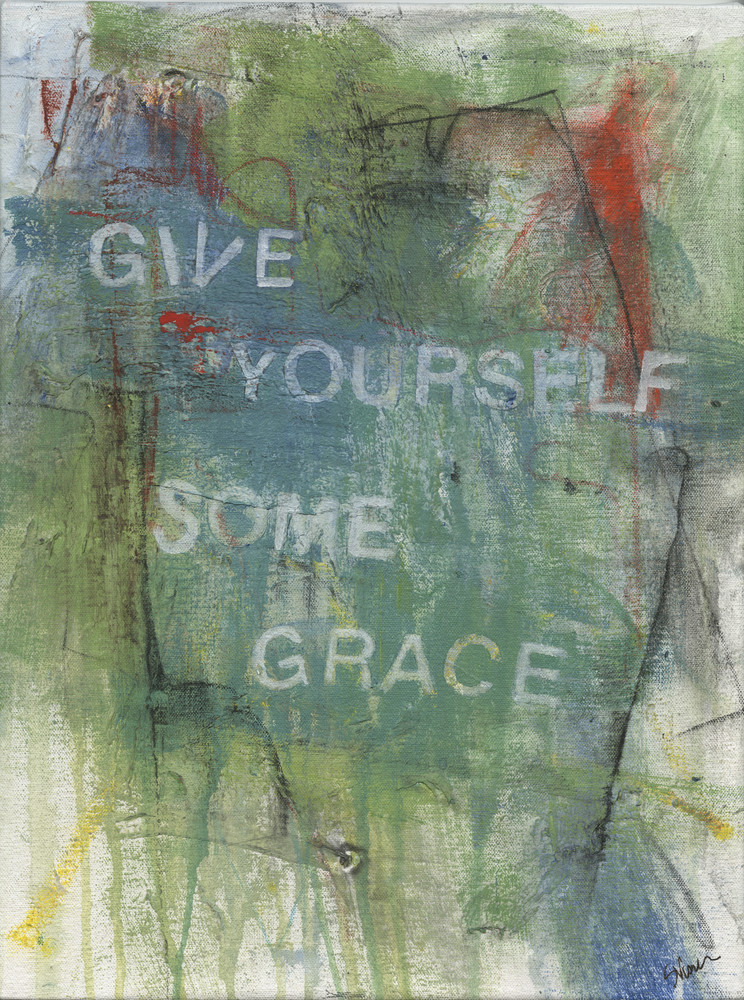 Give Me Your Words : : Give Yourself Some Grace Art | Stephanie Visser Fine Art