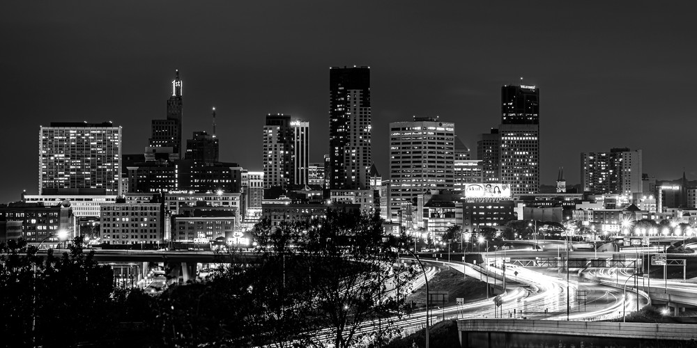Summer Nights In Saint Paul Black And White Photography Art | William Drew Photography