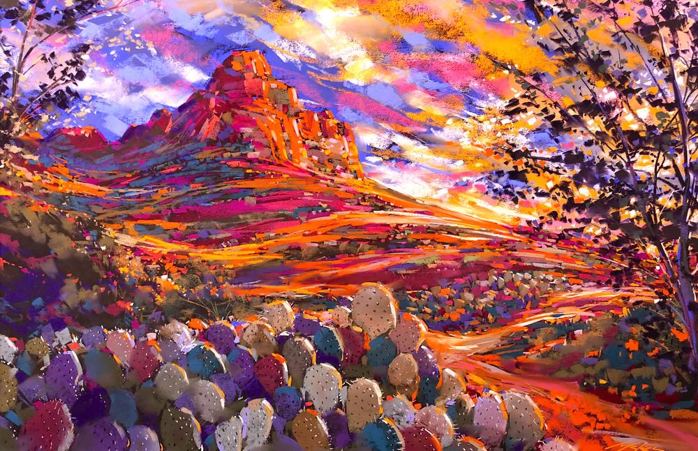 Prickley Pear Sun Art | Michael Mckee Gallery Inc.
