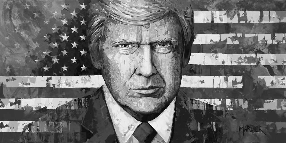 Donald J Trump, Marnier Art, Painting, Prints, 45th President of the United States