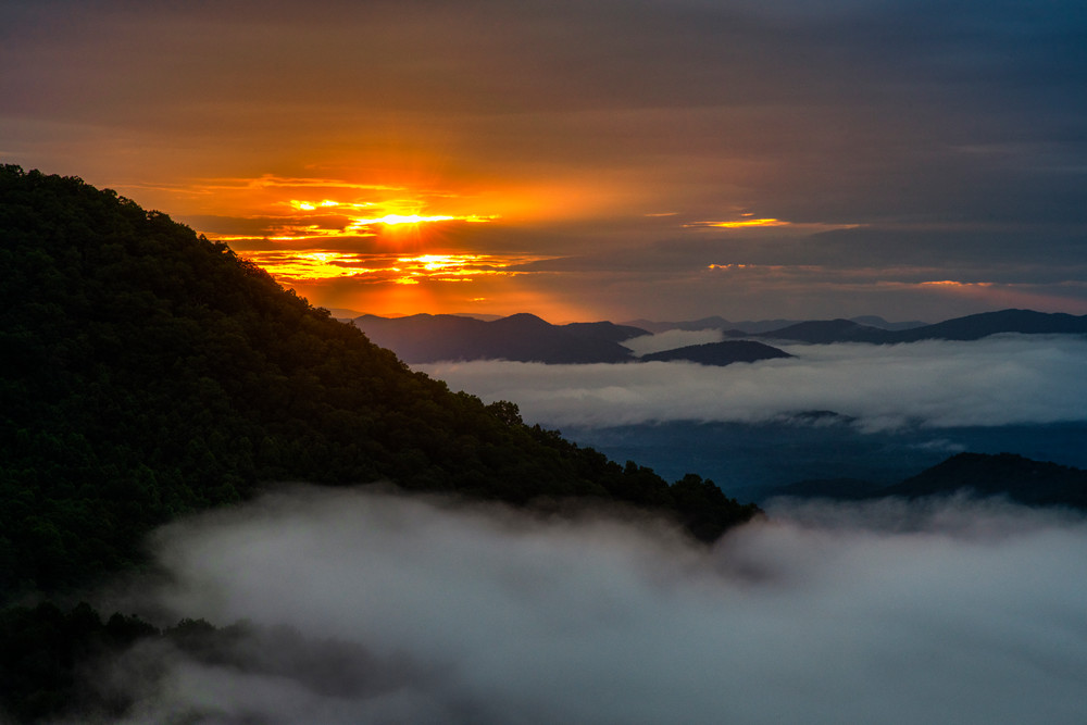 Nantahala Mountains Morning Glory Photography Art | Andy Crawford Photography - Fine-art photography