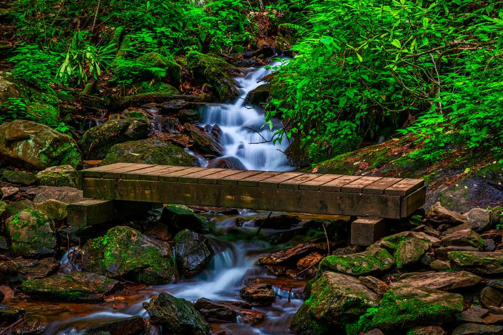 Bridge Over Rough Fork - Nantahala Mountains fine-art photography prints