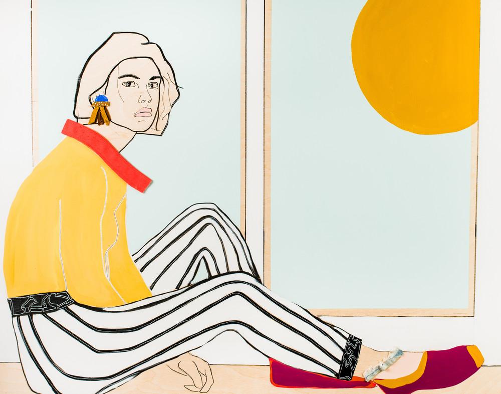 Window Woman Iv  Art | Meredith Steele Art